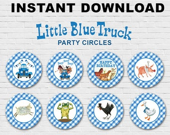 Little Blue Truck Cupcake Topper // Party Circle
