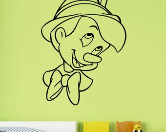 Pinocchio Vinyl Decal Wall Sticker Disney Art Decorations for Home Kids Boys Baby Room Bedroom Playroom Cartoon Decor pino4