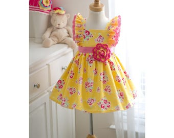 Yellow rose dress
