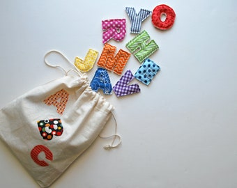 Plush Alphabet Magnets - Complete Set from A-Z - Soft - Rainbow - School - Colorful - Spelling - Magnetic - Refrigerator - Learning