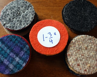 Wool Circles -- 50 - 1-3/4 inch Circles for Wool Penny Rugs -- Precut Recycled Felted Wool Circles -- Wool Pennies