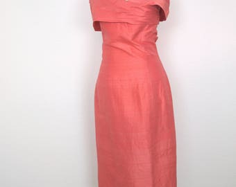 1950s Blush Pink Wiggle Dress - Bombshell Bardot Dress