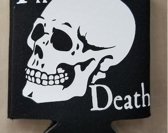 til death skull beer can cooler