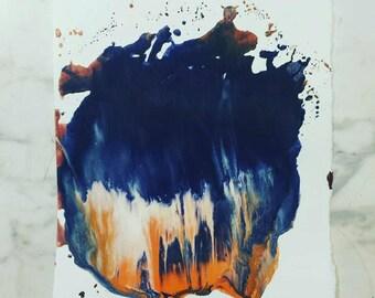 Crayon print 6, Northern lights
