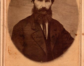 carte de visite antique photo of bearded man