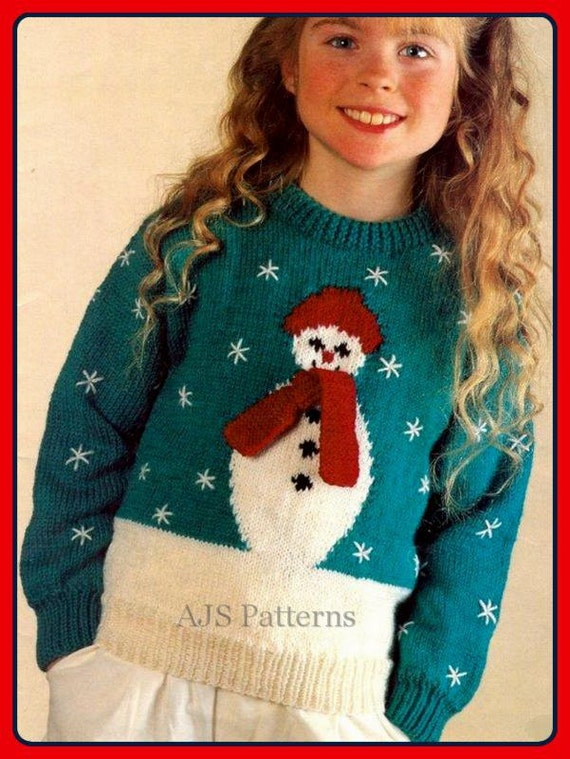 Pdf Knitting Pattern For A Childs Or Womans Festive Christmas