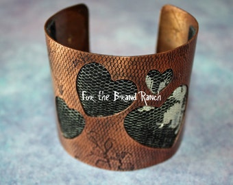 Leather and Lace Copper Bracelet for your Valentine