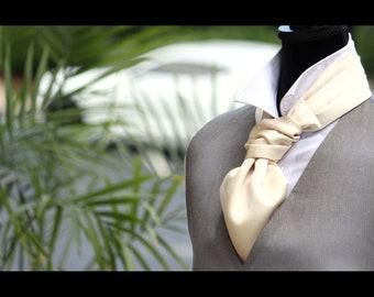 Men's Wedding Cravat Ascot Mens Tie Woven Silk Groom Cravat Ascot 027 Mens Tie