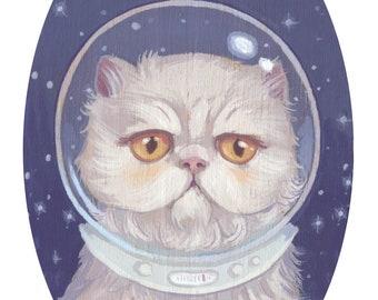 Space Kitten - 4x6 Mini Art Print