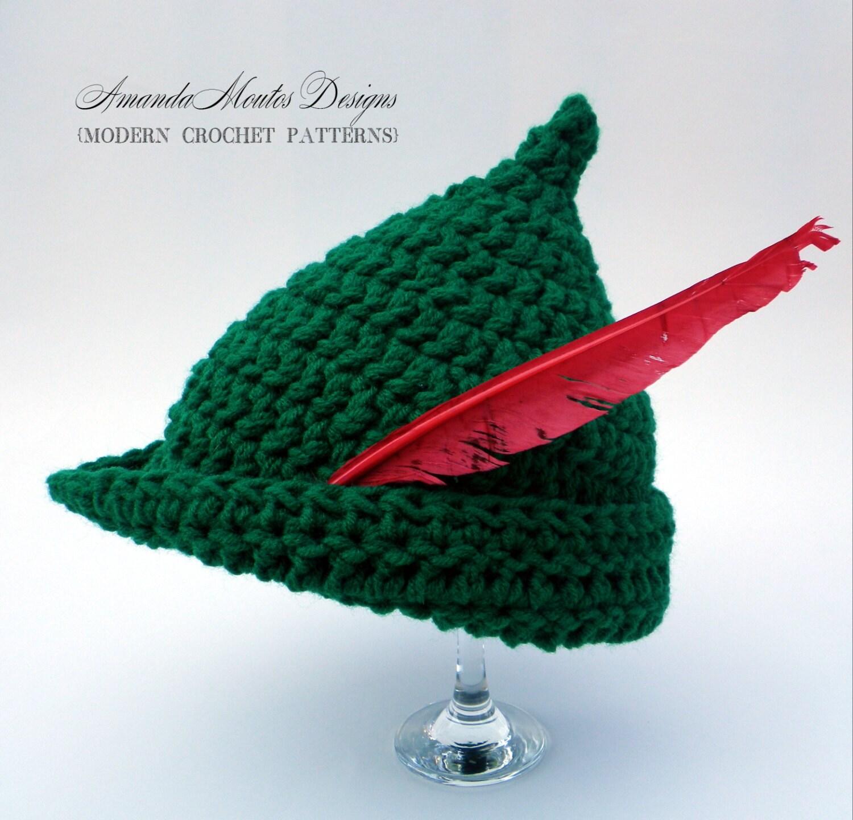 INSTANT Download Elf / Peter Pan / Robin Hood Hat CROCHET