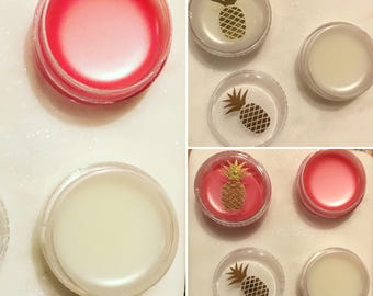 Lip Balm, Lip Gloss. All natural! Made with organic coconut oil