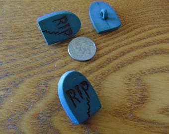 Gravestone Button Embellishment