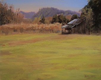 Orchard View - Original Plein Air Rural Landscape Painting