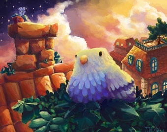 hasetill 'Blue Bird' | Illustration | Print | Postcard |