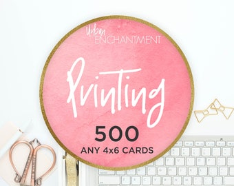 PRINTING -- 500 -- 4x6 Cards -- Perfect for Tips & Application Cards
