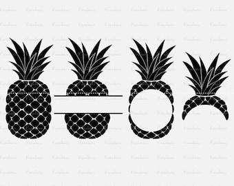 Pineapple SVG, Pineapple Monogram SVG  ai Files dxf Files SVG Files, Cricut Cut Files, Silhouette Cut Files