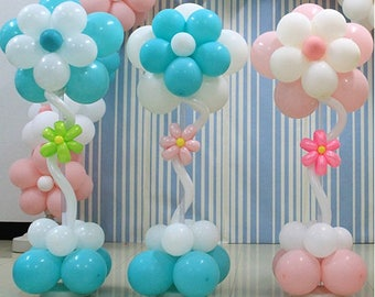 Flower Balloon Column - Celebration - Wedding Party - Engagement - Baby Shower - Decoration