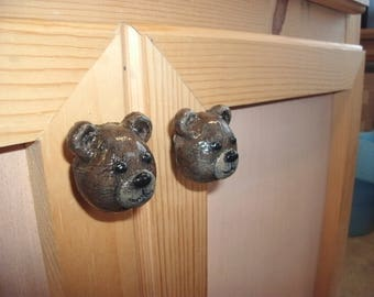 Brown Bear Drawer and Cabinet Knob