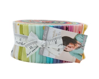 Moda Ombre Confetti Dot Metallic Jelly Roll by V and Co