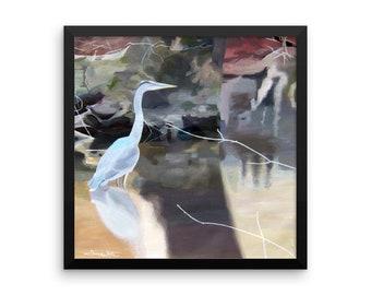 Great Blue Heron Art Print, Great Blue Heron Painting, Great Blue Heron Artwork, Great Blue Heron Print, Great Blue Heron Wall Art