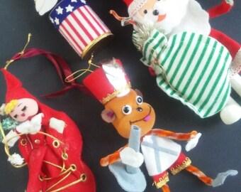 Quartet of vintage ornaments from Japan