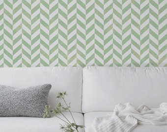 Geometric herringbone Pattern Wallpaper  || Wall mural || Self adhesive wall decor || Peel and stick    #27