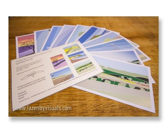Assorted selection of postcards by Lazenby Visuals - Replicas of limited edition prints - 3 Selections To Choose From