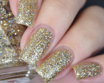 Pot of Gold - Gold Holographic Glitter polish -