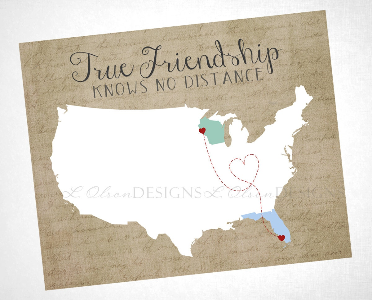 Quotes About Friendship And Distance Friendship Wall Art True Friendship Knows No