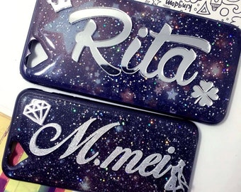 Personalized Name Custom Fashion Cool Mirror Phone Case For Iphone6/6S, iphone6 plus/6S Plus