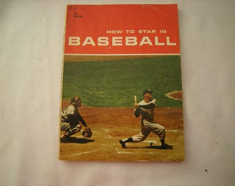 vtge book-baseball how to-copyright 1960-Tab Books-1st printing-baseball guide-sport-coaching book-63 pages-child library-
