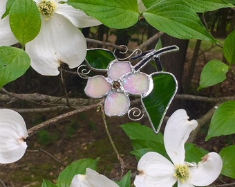 stained glass Dogwood blossom