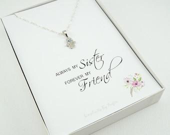 Gift for sister, sister necklace, sister gift, Big sister gift, sister and best friend, sister necklace gift