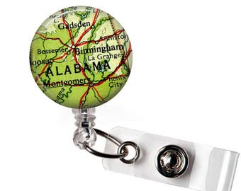 Alabama Badge Reel, Student nurse, Badge Reel Nurse, Badge Clip Retractable, nursing badge reel, nursing student, Reel Badge Holder