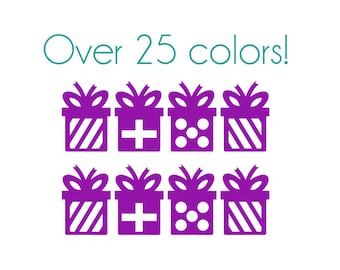 Gift Nail Decals - Vinyl, Custom Choice of Color