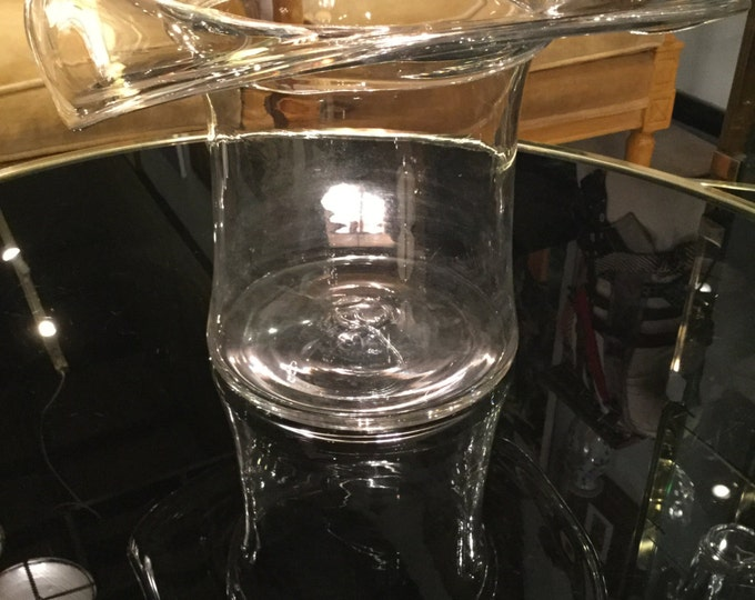 Ca. 1960s Blenko Ice Container or Champagne Chiller in the form of a Top Hat