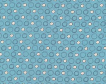 01213  David Walker Boys will be boys- dots in blue color - 1/2 yard