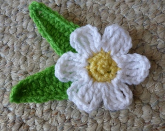 Flower and leaf crochet pattern