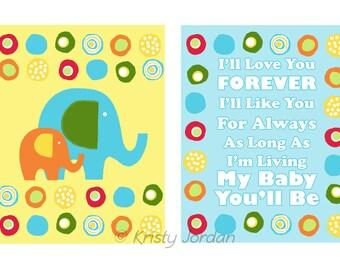 Printable-Elephant Circles Baby Room Decor