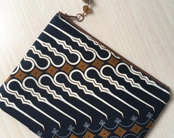 Handbag/Clutch/Pouch/Ethnic style made from traditional Batik/Unique Item