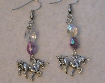 Carousel Unicorn Horse Earrings