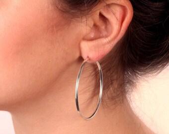 gold hoop earrings, simple hoop earrings, gold filled hoops, dainty earrings,minimalist gold earrings,gift for her - 21065