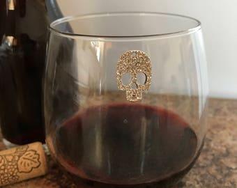 Skull Magnetic Wine Charm