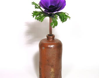 German Stoneware Bottle - Preserving Jar 1960  - Boho Kinfolk Trend - Old Rustic Bottles Collection - Vintage Industrial Home Decor