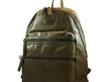 Padded Olive Rucksack for Ladies   Travel Backpack Camera Bag      Dslr Backpack for Women