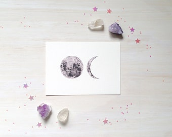Full Moon Waning - mini print