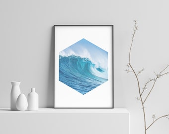 The Pipe Modern Beach Print Poster
