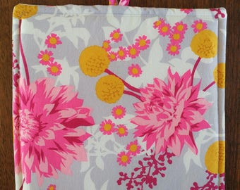 The Habanero Hot Pad - Pink and Gray Floral