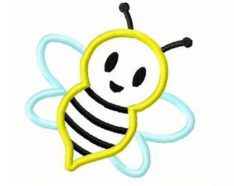 Bumble Bee Appliqué  Embroidery Design 4x4 -INSTANT DOWNLOAD-