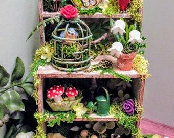 Fairy garden secret garden cabinet